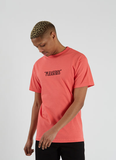 Core Logo Embroidered T-shirt - Coral