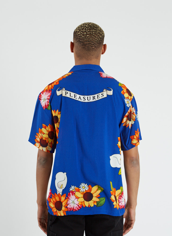 Gangster Shortsleeve Button-up - Blue