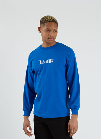 Core Logo Embroidered T-shirt L/S - Royal