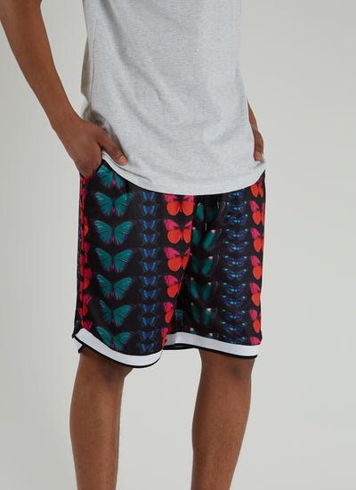 Butterfly Basketball Shorts - Black