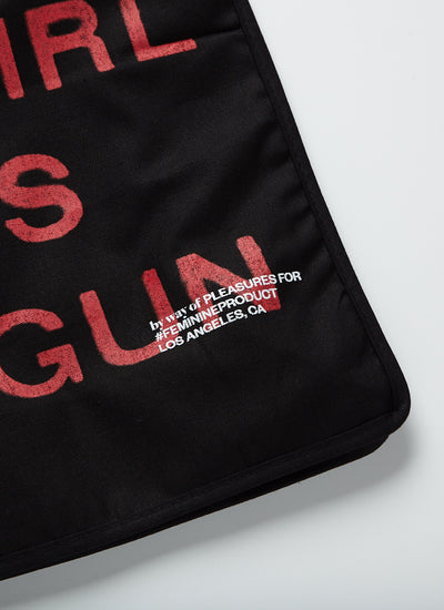 A Girl is a Gun Tote Bag - Black