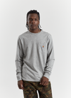 L/S Pocket T-shirt - Grey Heather
