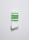 Wordmark Socks - White/Green