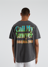 Call My Lawyer T-shirt - Black Rainbow