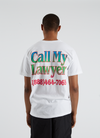 Call My Lawyer T-shirt - White Rainbow