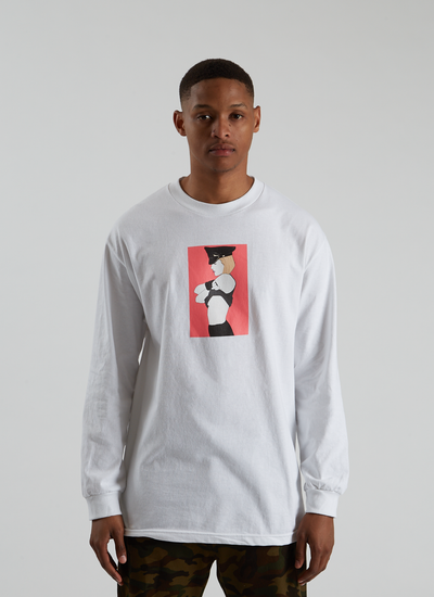 Pleasures x Patrick Nagel Arrested Longsleeve - White
