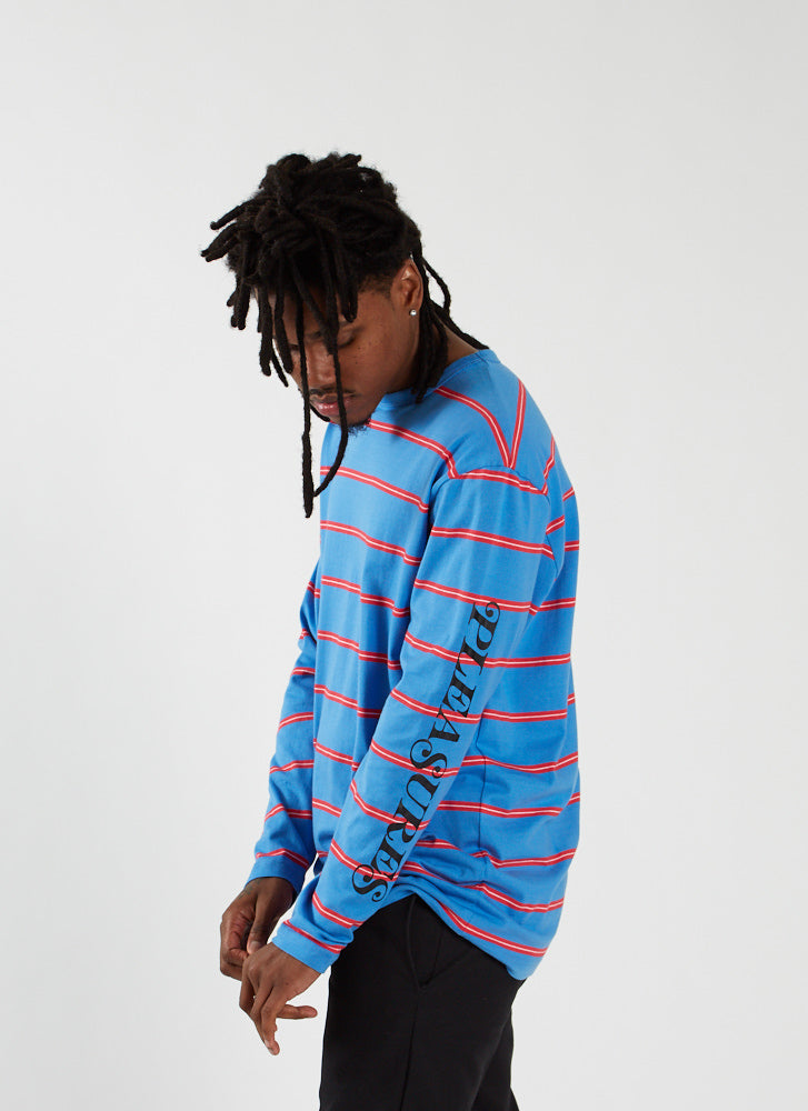Scream Striped Longsleeve - Bright Blue