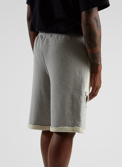 Reversible Terry Shorts - Heather Grey