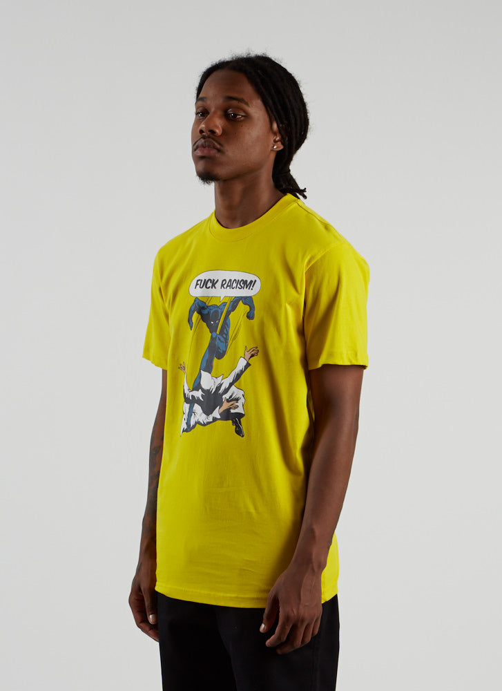 Fuck Racism T-shirt - Yellow