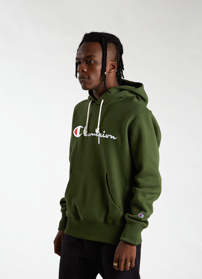 RW Logo Hooded Sweatshirt - Deep Pine Green