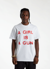 'A Girl is a Gun' T-shirt - White