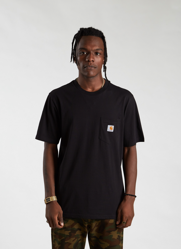 S/S Pocket T-shirt - Black