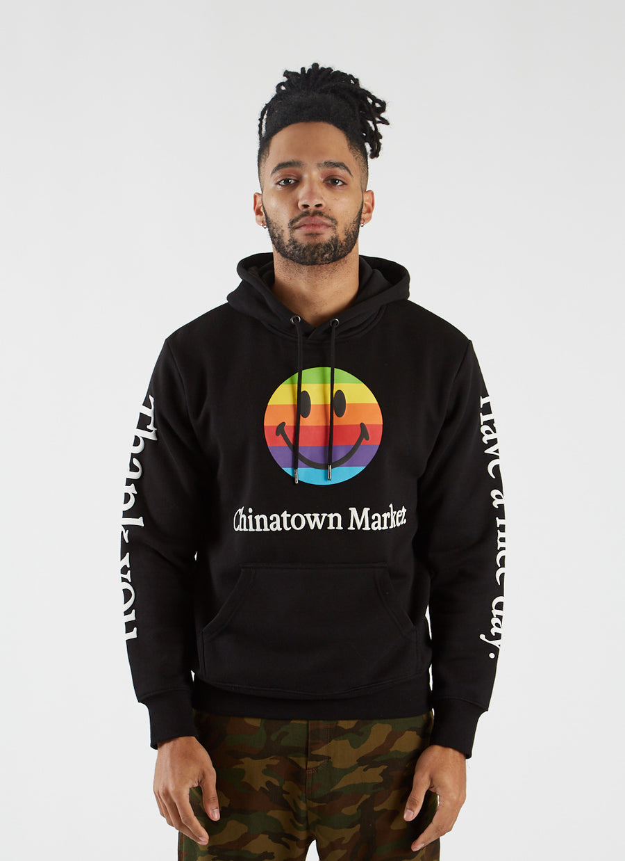 Smiley Apple Hoodie - Black