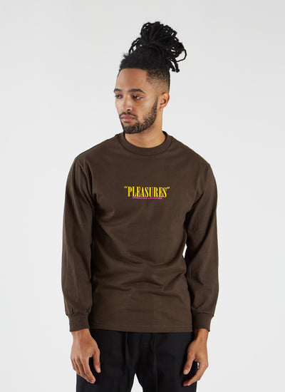 Satisfaction Guaranteed Longsleeve T-shirt - Coffee