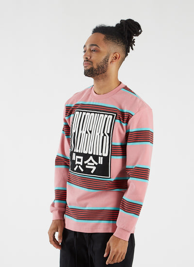 Electronics Striped Longsleeve - Pink