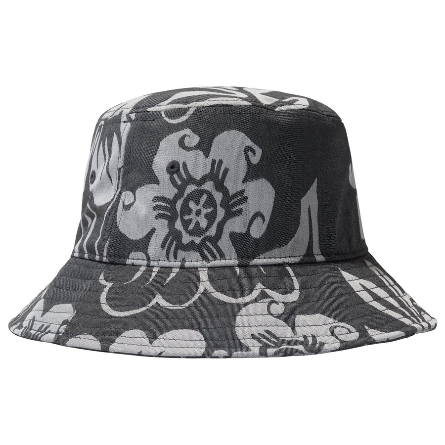 Nylon Hawaiian Bucket Hat - Navy