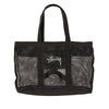 Mesh Beach Tote Bag - Black