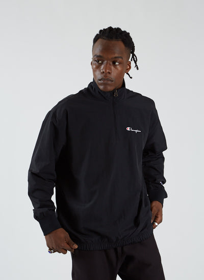 Poly Half Zip Top - Black