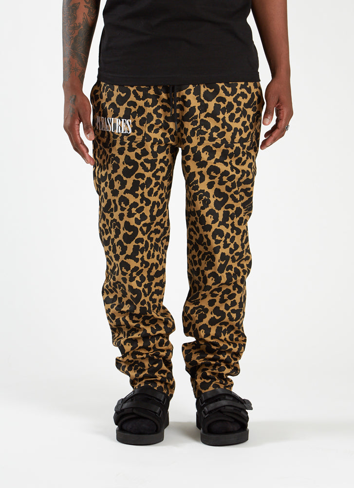Leopard Beach Pant - Tan