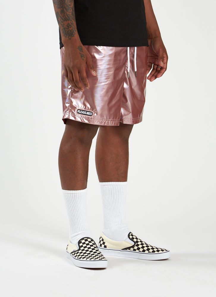 Liquid Metallic Shorts - Pink
