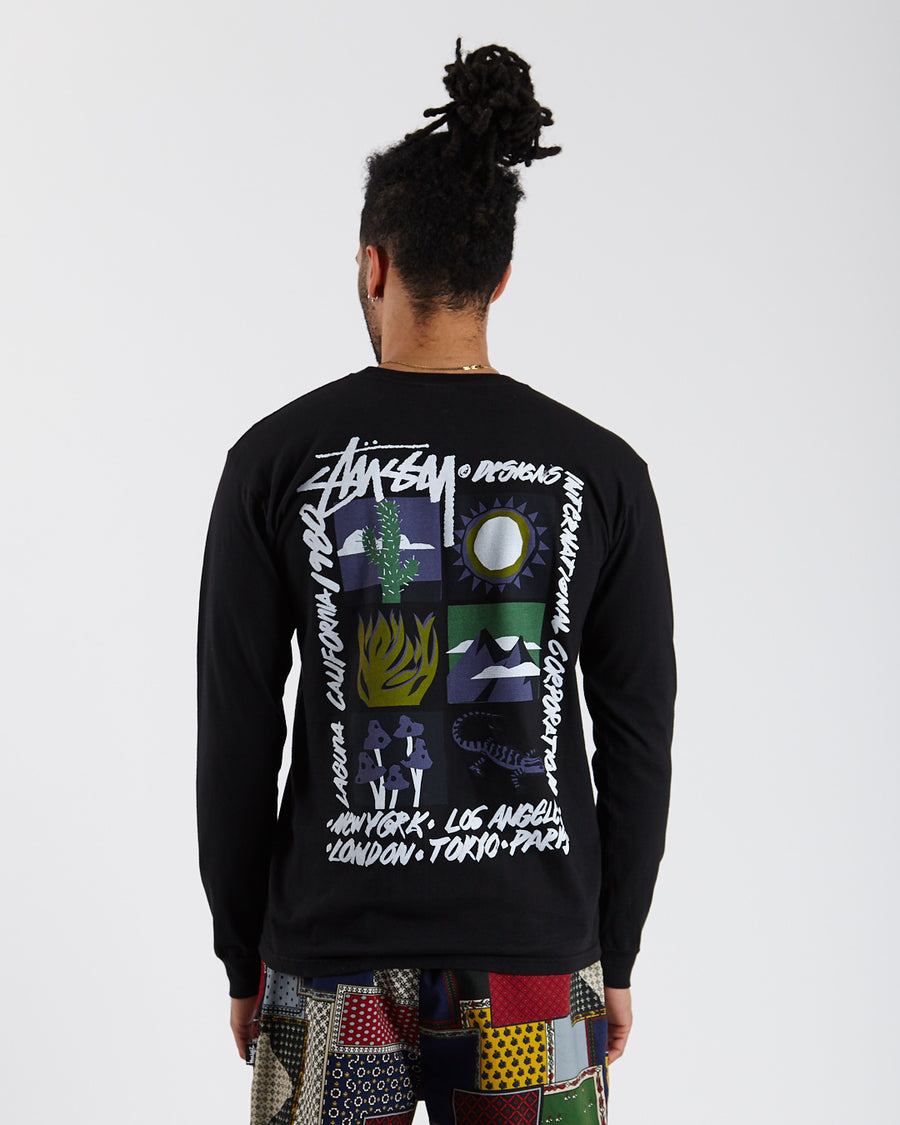 High Desert Pig. Dyed L/S Tee - Black