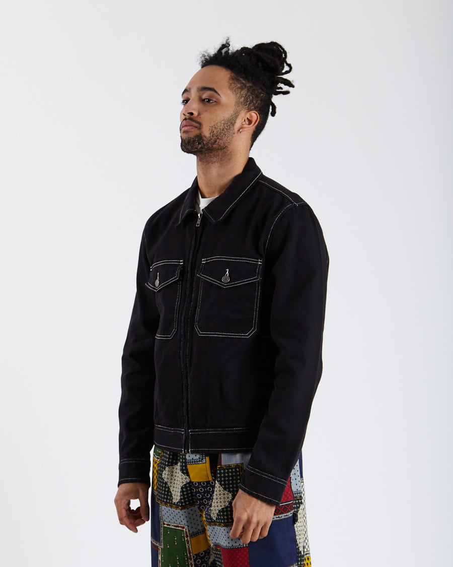 Overdyed Garage Jacket - Black