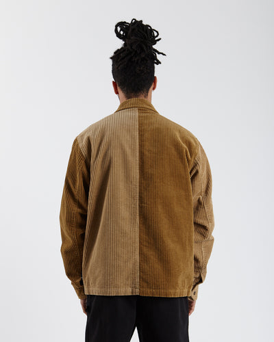 Mix Up Cord Jacket - Brown