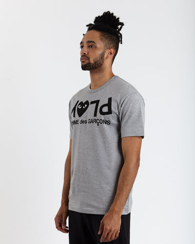 Black Play Logo T-Shirt - Grey