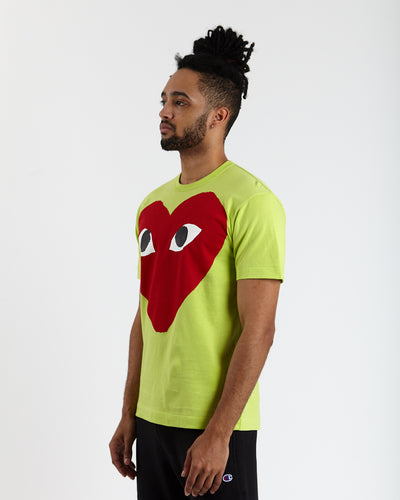 Big Red Heart T-Shirt (Green)