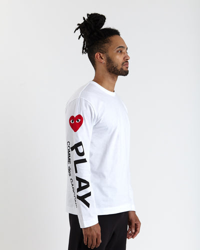 Longsleeve T-shirt with Arm Hearts - White