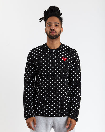 Polka Dot T-Shirt - Black/White
