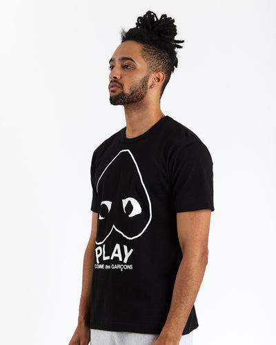 Play Inverted Heart T-Shirt (Black)