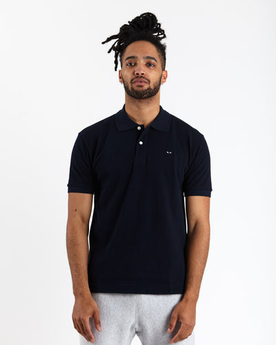 Little Black Heart Polo Shirt - Navy