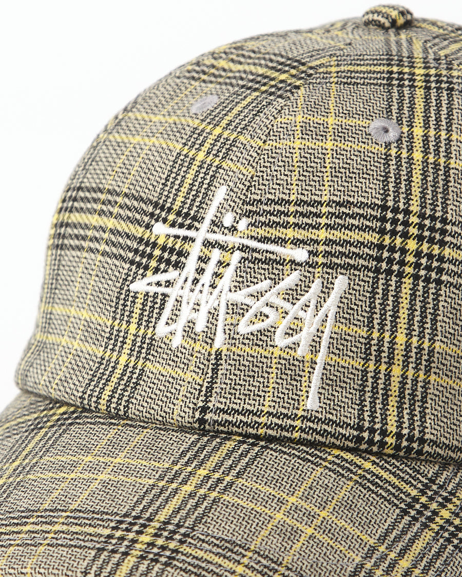 Big Logo Plaid Low Pro Cap - Off White