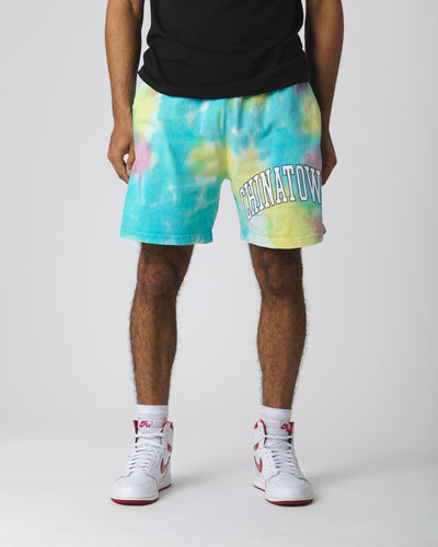ARC Left Sweatshorts - Tie Dye Blue