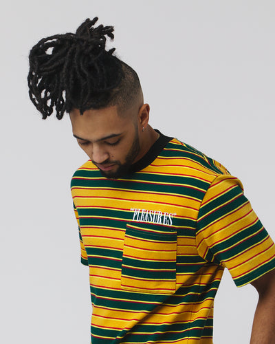 Chainsmoke Stripe Shirt - Yellow/Green