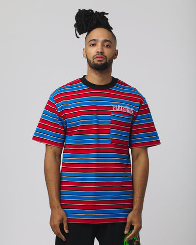 Chainsmoke Stripe Shirt - Blue/Maroon