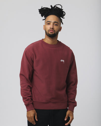 Stock Logo Crew - Burgundy