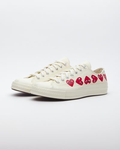 Comme Des Garçons PLAY x Converse Chuck Taylor Multi Heart 1970s Ox - Off White
