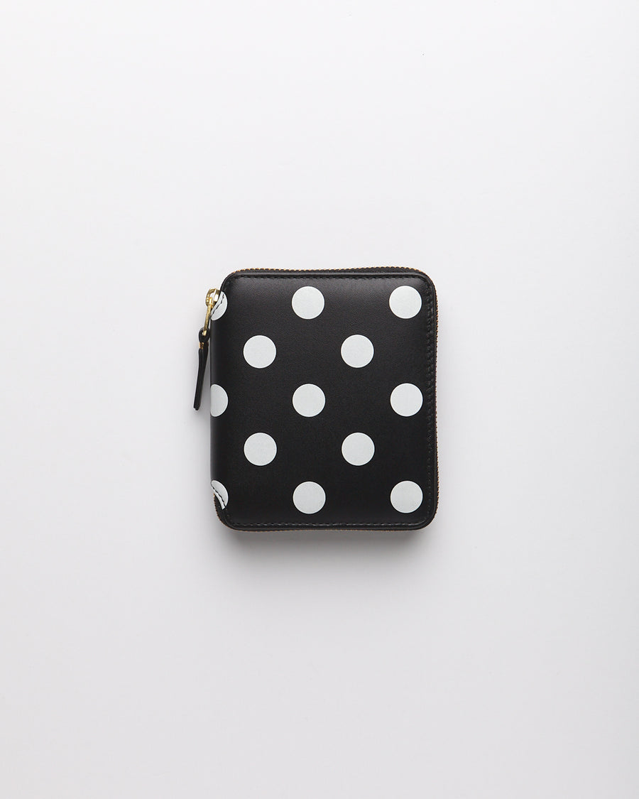 Polka Dots Printed Wallet - Black  (SA2100PD)
