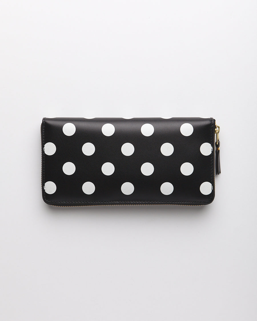 Polka Dots Printed Wallet - Black  (SA0110PD)