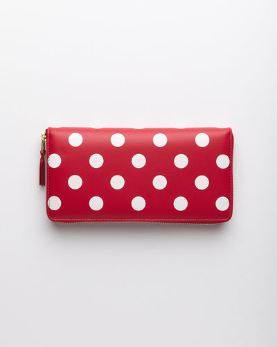Polka Dots Printed Wallet - Red  (SA0110PD)