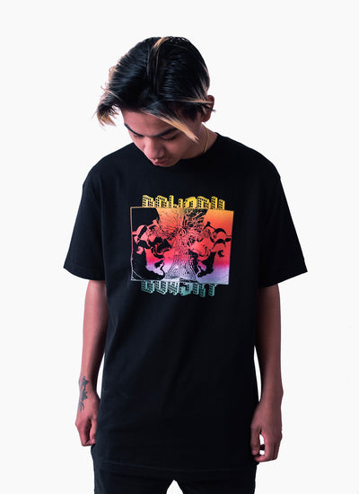 Burning Chrome T-shirt - Black