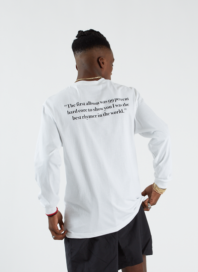 Pleasures x Big Pun Beware T-shirt L/S - White