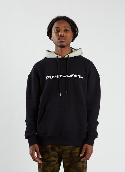 Hard Drive Crewneck with Hoodie - Black