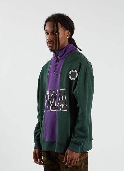 PMA Quarter Zip - Green/Purple