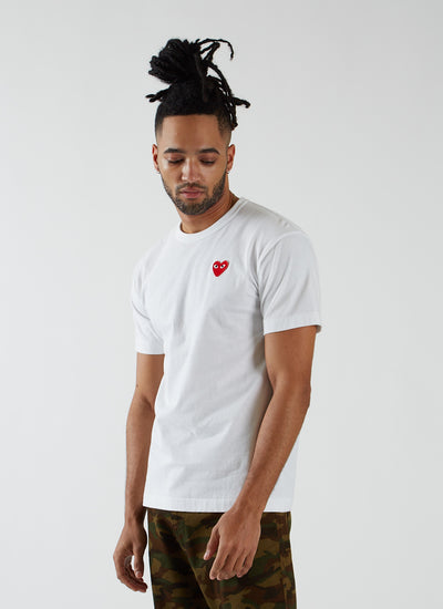 T-shirt with Red Heart - White