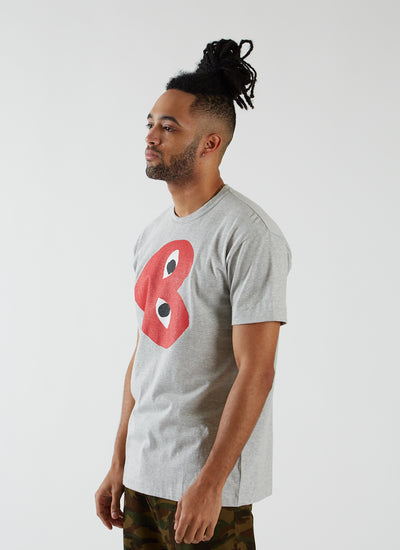 T-shirt with Sideways Heart - Grey