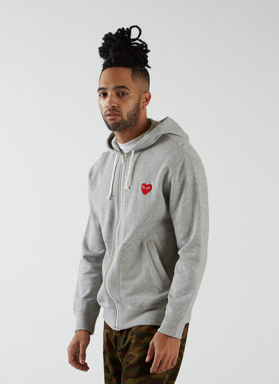 Zip Hooded Sweatshirt - Grey