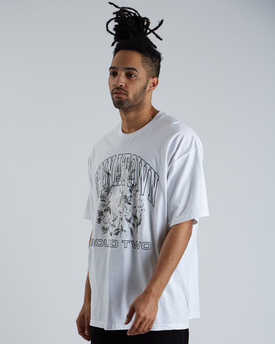 Round Two UV FLower T-shirt - White